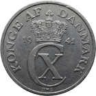 Kingdom of Denmark, Christian X, 5 Øre 1941 (obverse)