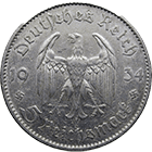 German Third Empire, 5 Reichsmark 1934 (obverse)