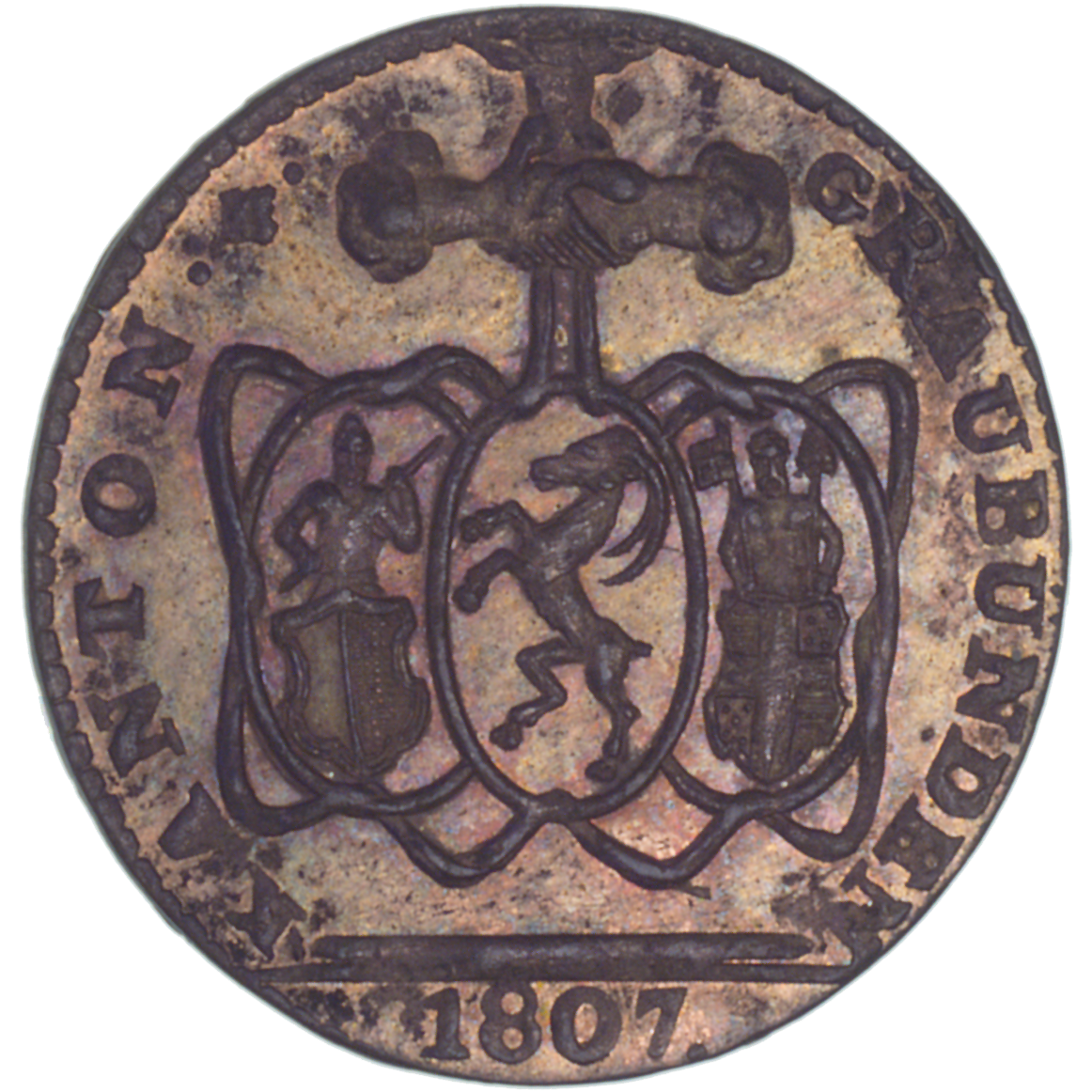 Canton of Grisons, Time of Mediation, Batzen 1807 (obverse)