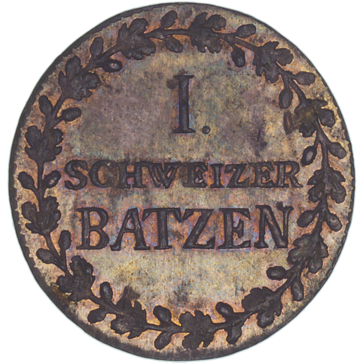 Canton of Grisons, Time of Mediation, Batzen 1807 (reverse)