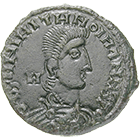 Roman Empire, Forged Solidus in the Name of Constantius II (obverse)