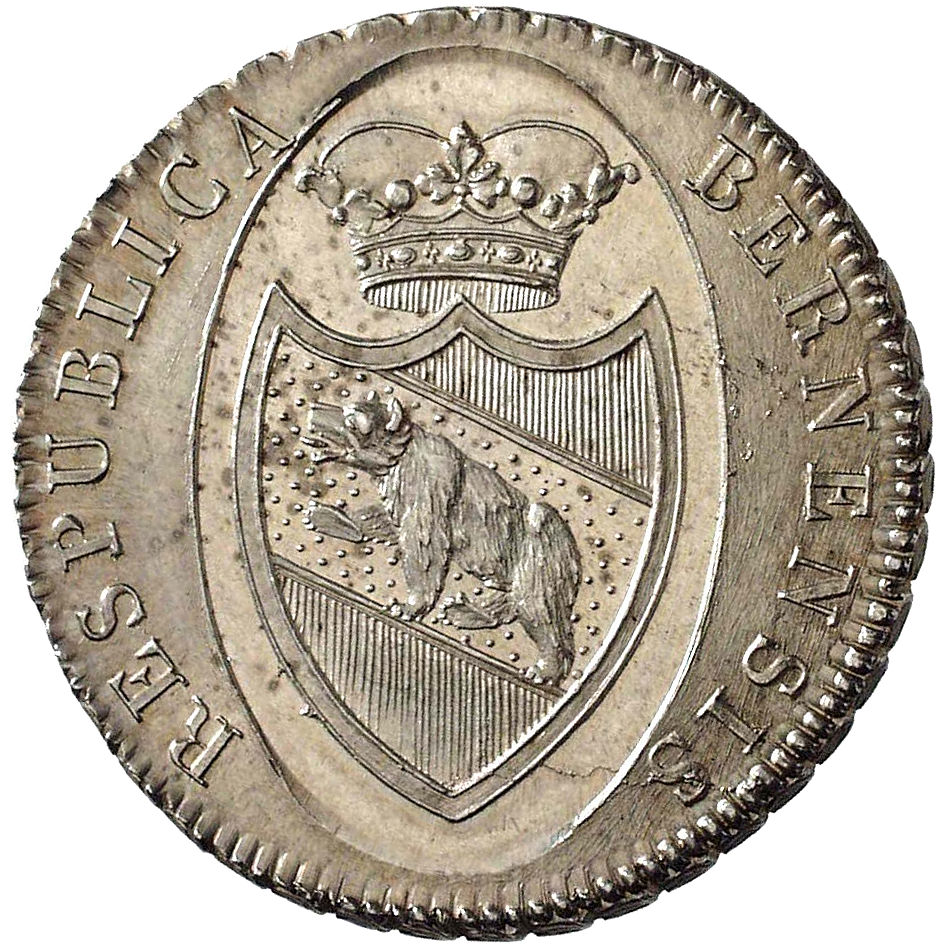 Republic of Berne, Taler at 40 Batzen 1798 (obverse)