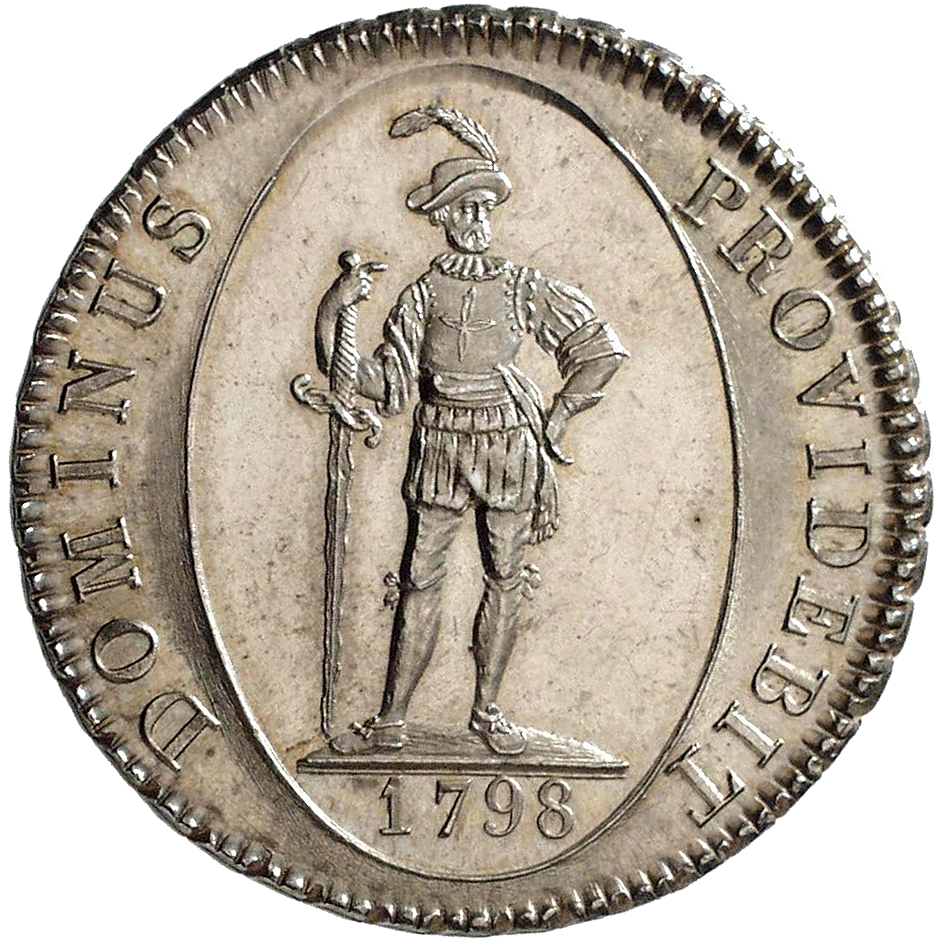 Republic of Berne, Taler at 40 Batzen 1798 (reverse)