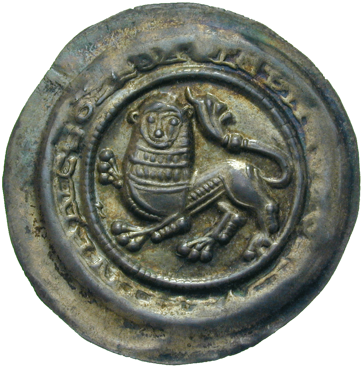 Holy Roman Empire, Duchy of Braunschweig, Henry the Lion, Bracteate (obverse)