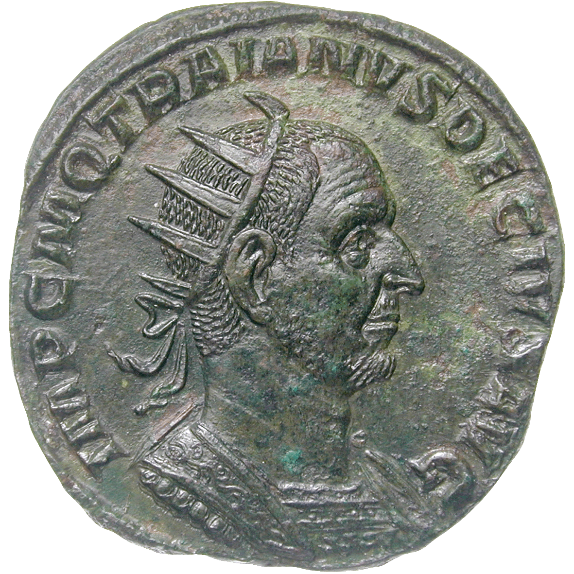 Roman Empire, Traianus Decius, Double Sesterce (obverse)