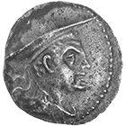 Graeco-Bactrian Kingdom, Antimachus I, Obol (obverse)
