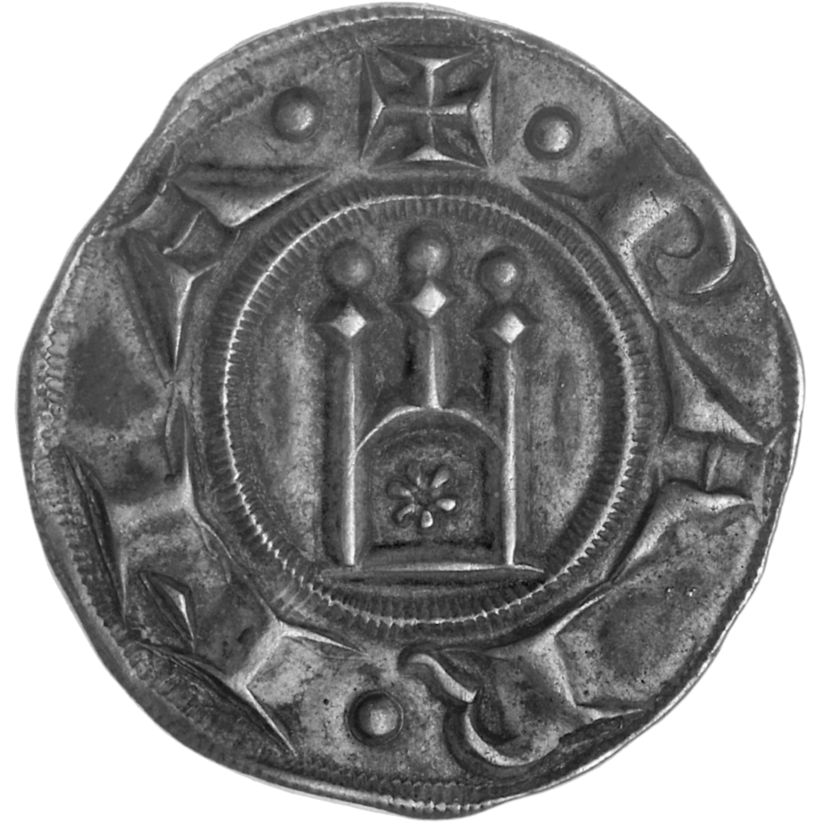 Holy Roman Empire, Republic of Parma, Grosso in the Name of Frederick II of Staufen (obverse)