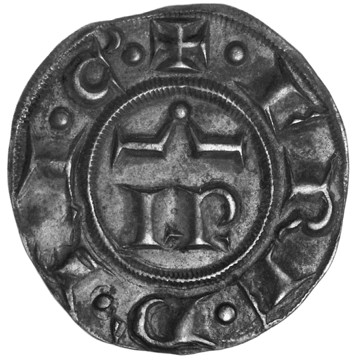 Holy Roman Empire, Republic of Parma, Grosso in the Name of Frederick II of Staufen (reverse)