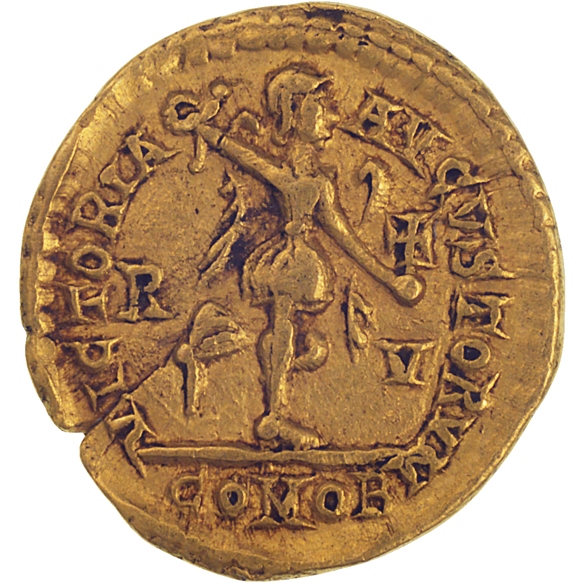 Roman Empire, Honorius, Tremissis (reverse)