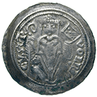 Holy Roman Empire, City of Trieste, Bishop Volrico de Portis, Denarius (obverse)