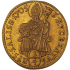 Holy Roman Empire, Archbishopric Salzburg, Johann Ernst of Thun and Hohenstein, 1/4 Ducat 1705 (obverse)