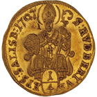 Holy Roman Empire, Archbishopric Salzburg, Johann Ernst of Thun and Hohenstein, 1/4 Ducat 1707 (obverse)