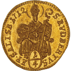 Holy Roman Empire, Archbishopric Salzburg, Franz Anton of Harrach, 1/4 Ducat 1712 (obverse)