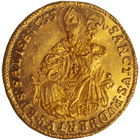 Holy Roman Empire, Archbishopric Salzburg, Guidobald of Thun and Hohenstein, Ducat 1655 (obverse)