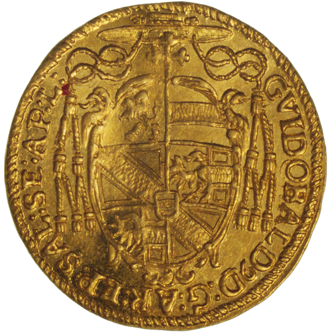 Holy Roman Empire, Archbishopric Salzburg, Guidobald of Thun and Hohenstein, Ducat 1655 (reverse)