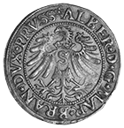 Holy Roman Empire, Duchy of Prussia, Albrecht of Brandenburg, Groschen 1533 (obverse)