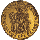 Holy Roman Empire, Archbishopric Salzburg, Franz Anton of Harrach, 1/2 Ducat 1709 (obverse)