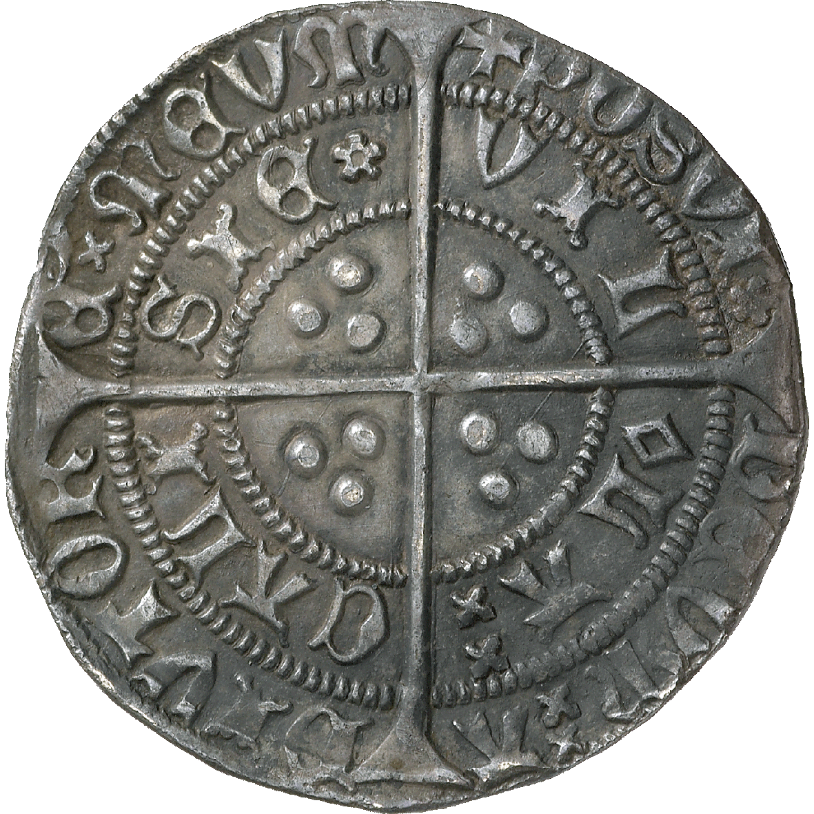 Kingdoms of England and France, Henry VI, Groat (reverse)