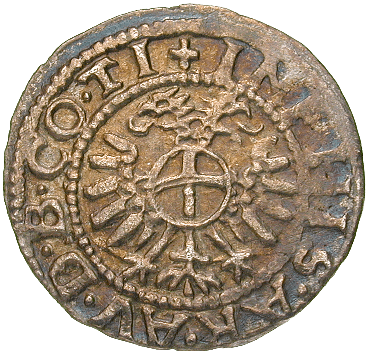Holy Roman Empire, County of Tyrol, Ferdinand I, Kreuzer undated, Hall (reverse)