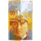 Swiss Confederation, 10 Franks 1980, 8th banknote series, in circulation since 1995 (obverse)