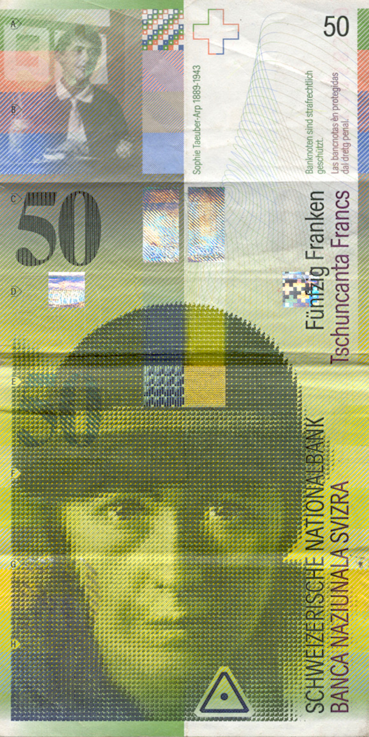 Swiss Confederation, 50 Franks 1980, 8th banknote series, in circulation since 1995 (obverse)