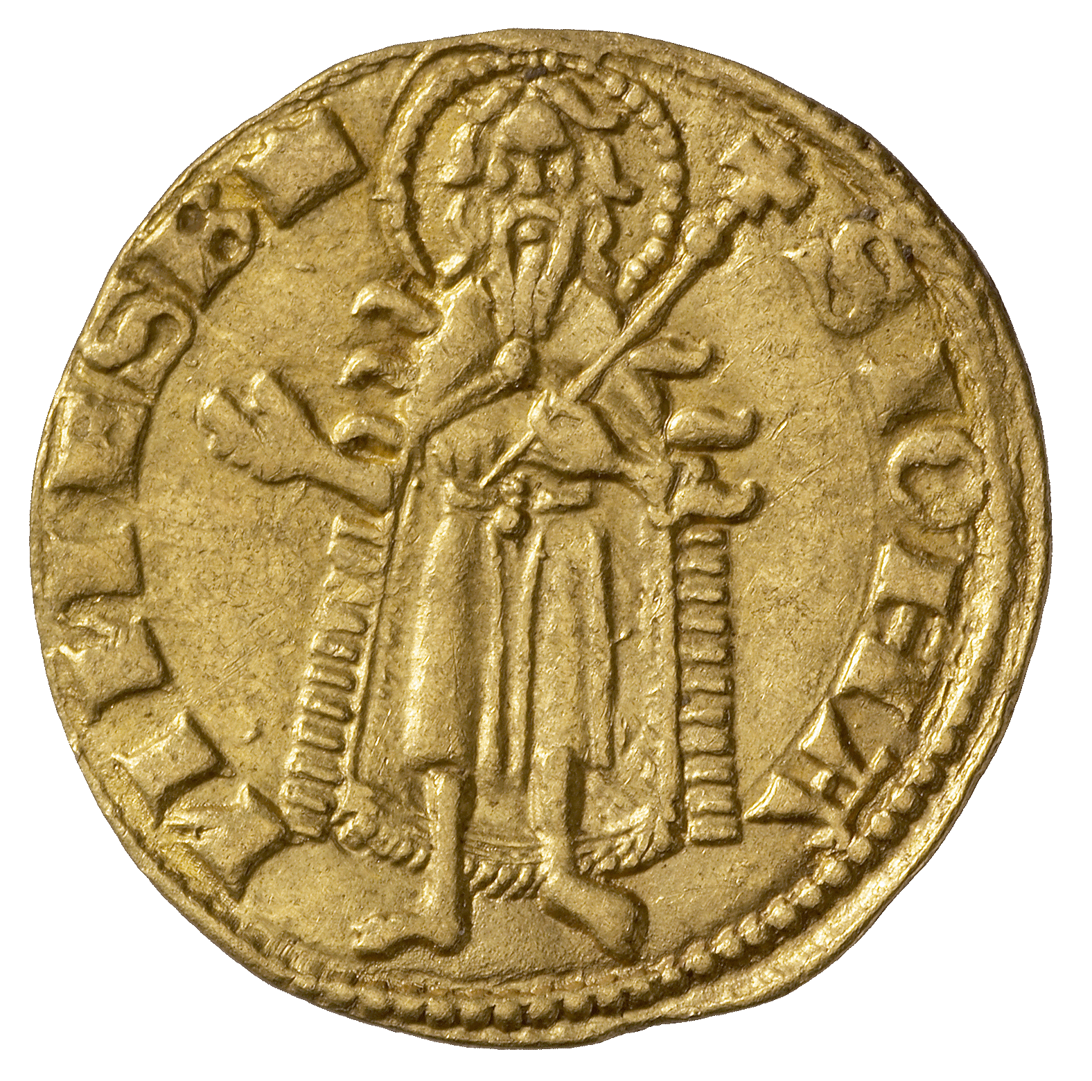 Holy Roman Empire, Kingdom of Hungary, Louis I of Anjou, Goldgulden (reverse)