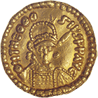 Visigoth Empire, Suebi, Imitation in the Name of Theodosius II, Solidus (obverse)