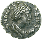 Empire of the Ostrogoths in Italy, Theoderic the Great, 1/2 Siliqua (obverse)