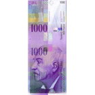 Swiss Confederation, 1000 Franks 1980, 8th banknote series, in circulation since 1995 (obverse)