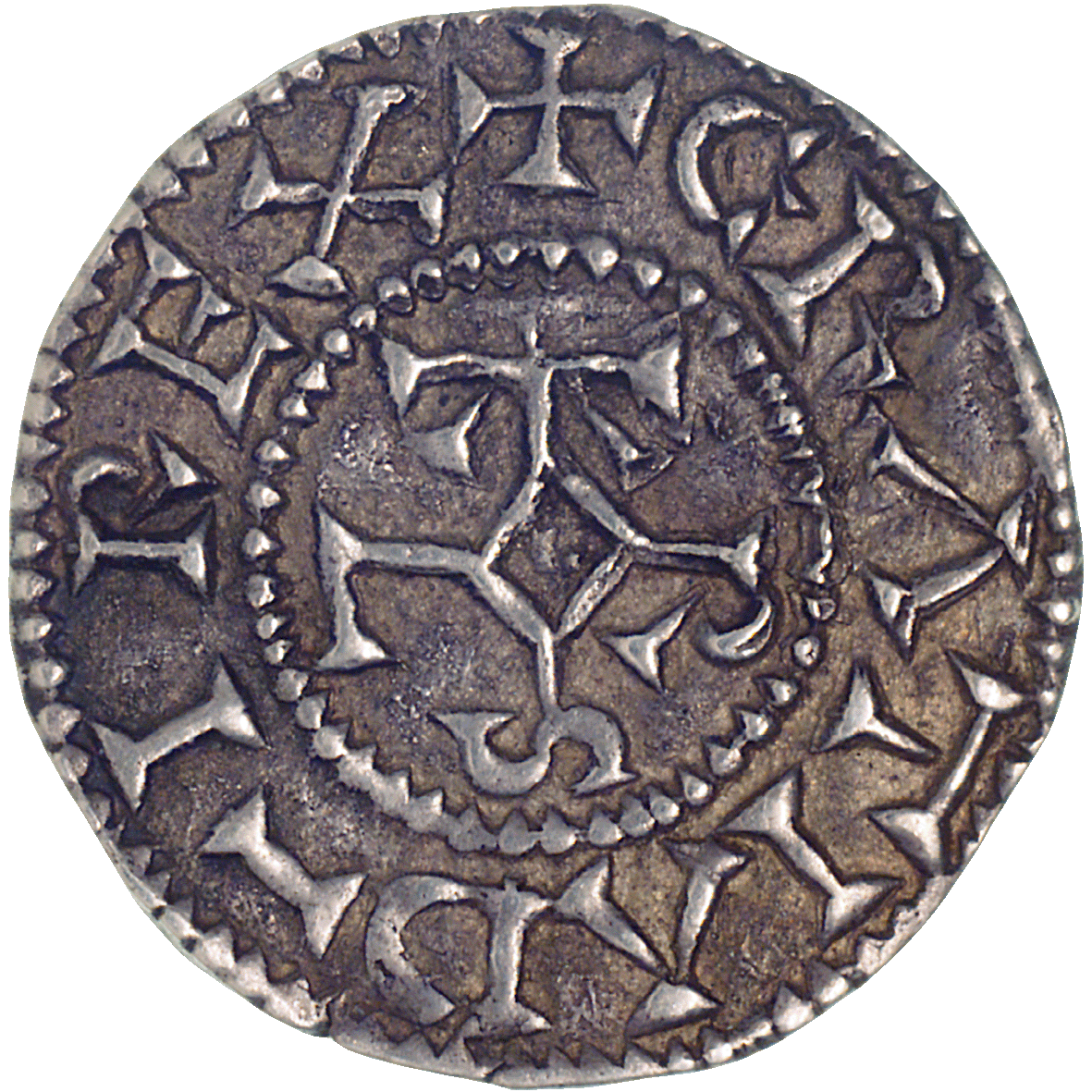 Frankish Empire, Charles II the Bald, Denarius (Pfennig) (obverse)