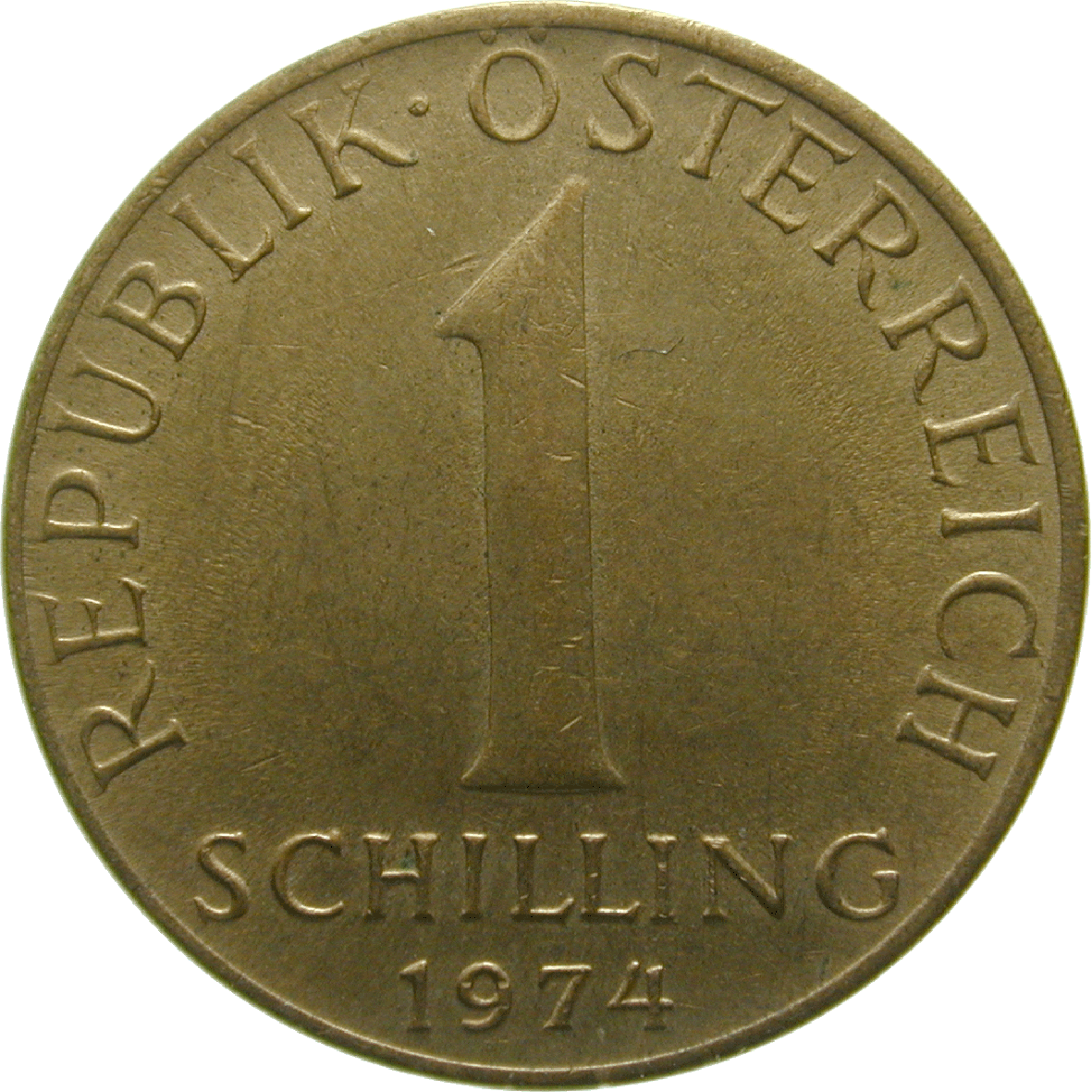 Republic of Austria, 1 Schilling 1974 (obverse)