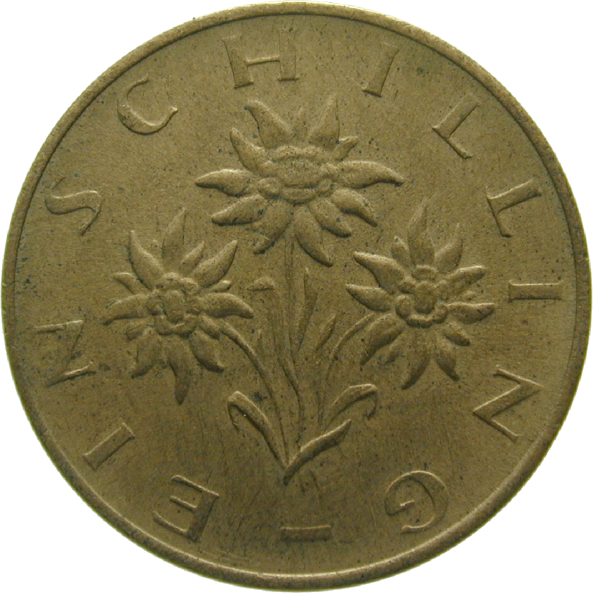 Republic of Austria, 1 Schilling 1974 (reverse)