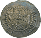 Holy Roman Empire, Archbishopric of Mainz, Henry I of Harburg, Bracteate (obverse)