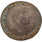 Empire of Mexico, Augustín I, Real de a ocho (Peso) 1823 (obverse)