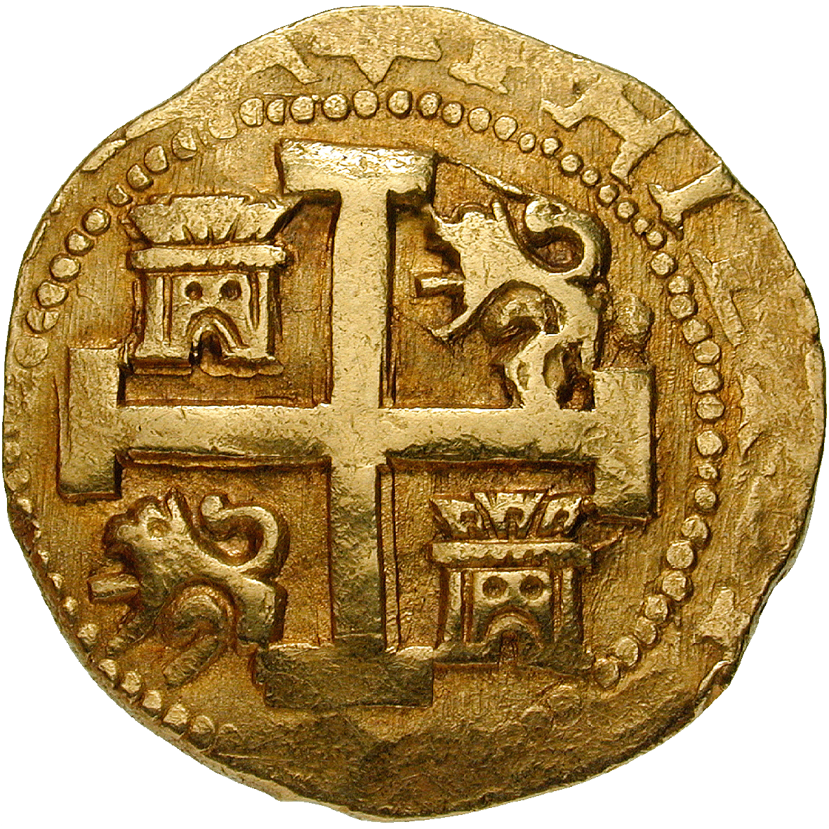 Viceroyalty of New Spain, Philip V, Doubloon of 8 Escudos (Onza) (obverse)