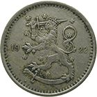 Republic of Finland, 1 Markka 1922 (obverse)