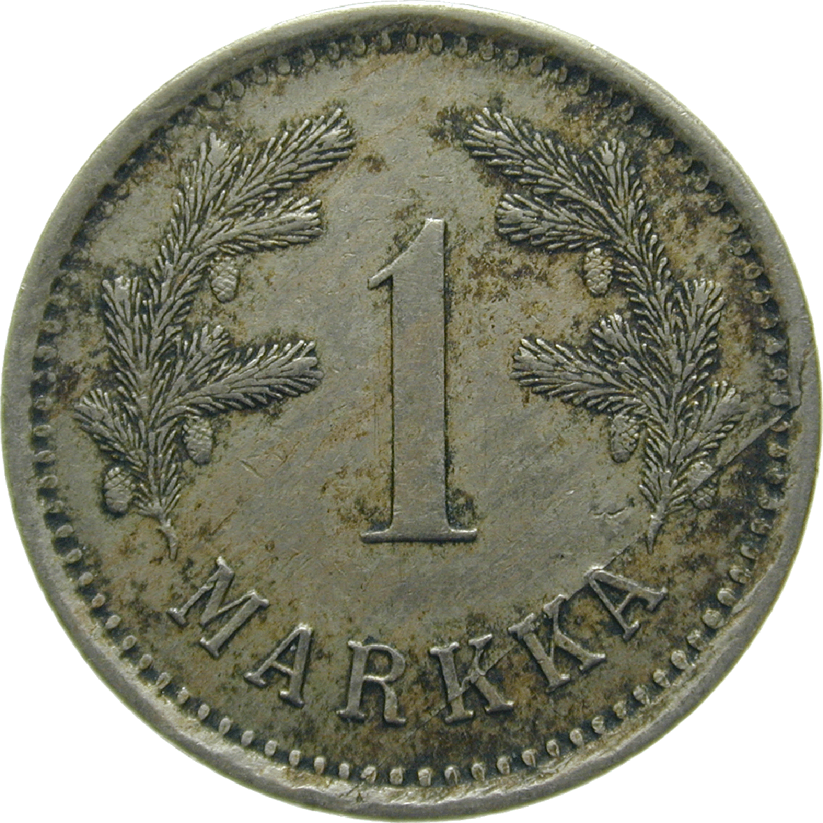 Republic of Finland, 1 Markka 1922 (reverse)