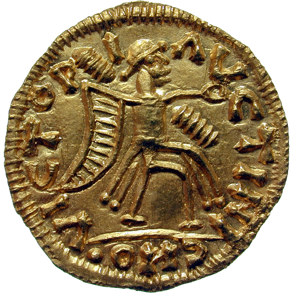 Visigoth Empire, Tremissis in the Name of Justinian (reverse)