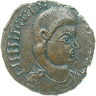 Migration Period, Undefined Germanic Issue in the Name of Magnentius, Maiorina? (obverse)