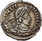 Roman Empire, Unspecified Germanic Issue, Siliqua (obverse)