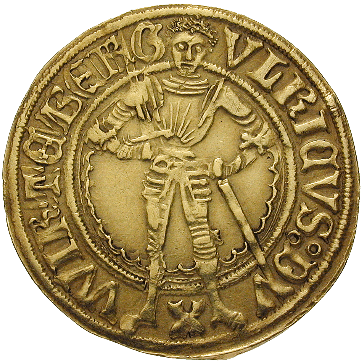 Holy Roman Empire, County of Württemberg, Ulrich, Goldgulden (obverse)