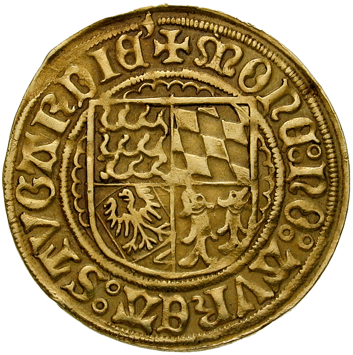 Holy Roman Empire, County of Württemberg, Ulrich, Goldgulden (reverse)