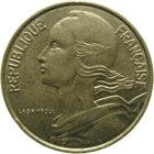 Republic of France, 10 Centimes 1997 (obverse)