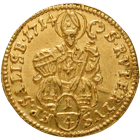 Holy Roman Empire, Archbishopric Salzburg, Franz Anton of Harrach, 1/4 Ducat 1714 (obverse)
