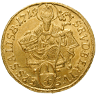 Holy Roman Empire, Archbishopric Salzburg, Franz Anton of Harrach, 1/4 Ducat 1719 (obverse)