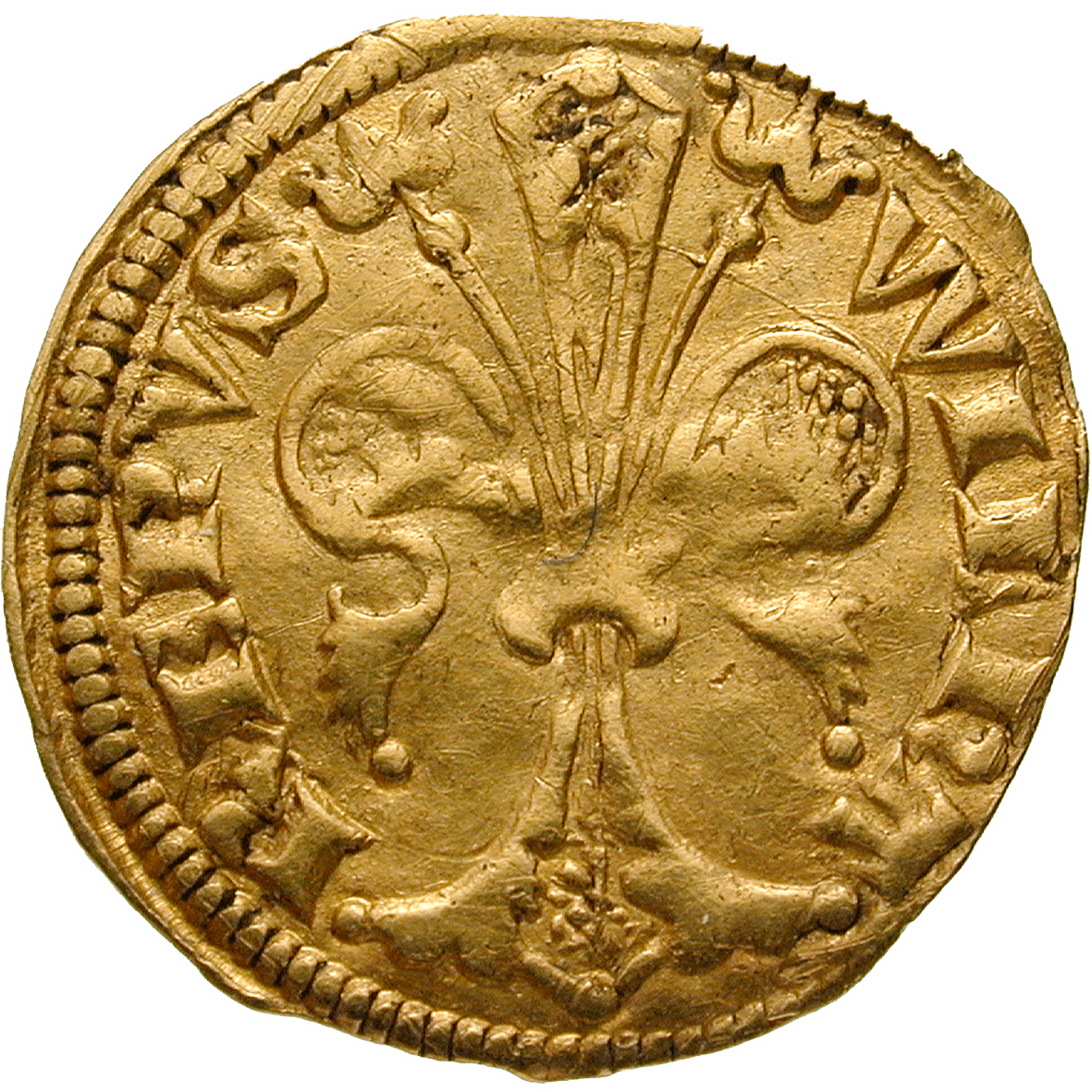 Holy Roman Empire, Archbishopric of Cologne, William of Gennep, 1/4 Floren (obverse)