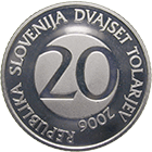 Republic of Slovenia, 20 Tolar 2006 (obverse)