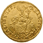 Holy Roman Empire, Archbishopric Salzburg, Guidobald of Thun and Hohenstein, 1/4 Ducat 1655 (obverse)