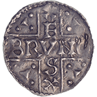 Holy Roman Empire, Bishop Pruno, Pfennig (obverse)