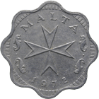 Republic of Malta, 2 Mils 1972 (obverse)